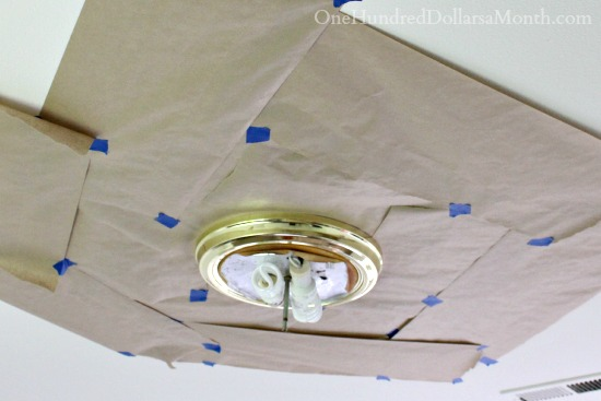 Spray Paint Brass Light Fixtures