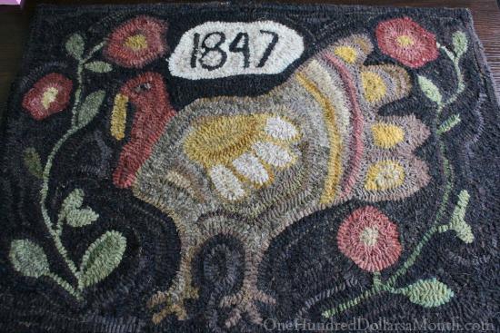 primitive turkey rug