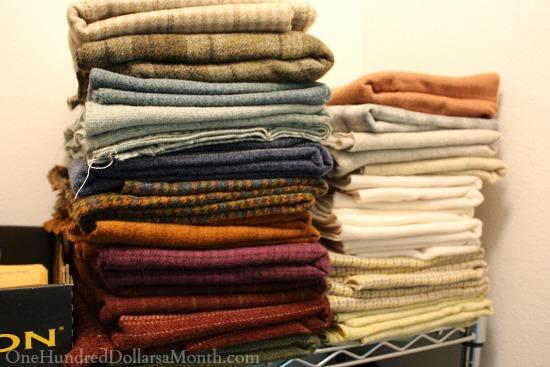 rug hooking wool stash. Where to Buy Wool