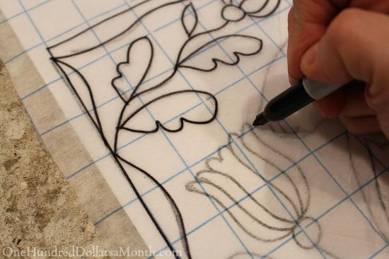 tracing rug hooking pattern