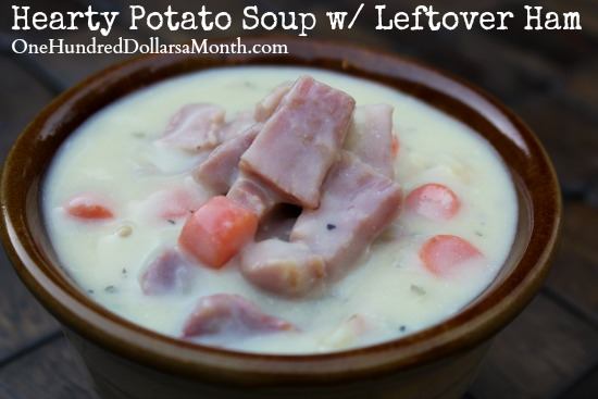 Hearty Potato Soup w Leftover Ham
