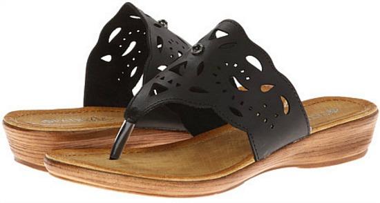 black leather summer sandal