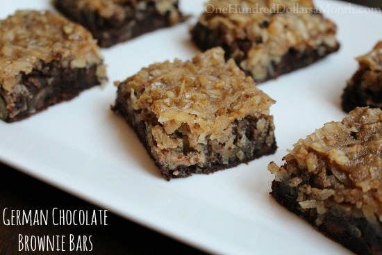 German-Chocolate-Brownie-Bars