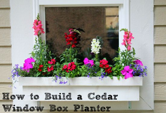 How to Build a Cedar Window Box Planter