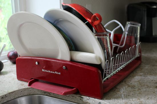 red kitchen aid drying rack