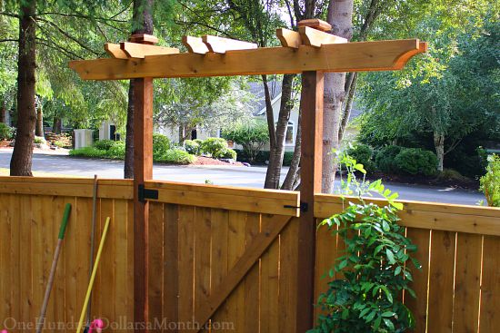 garden gate trellis