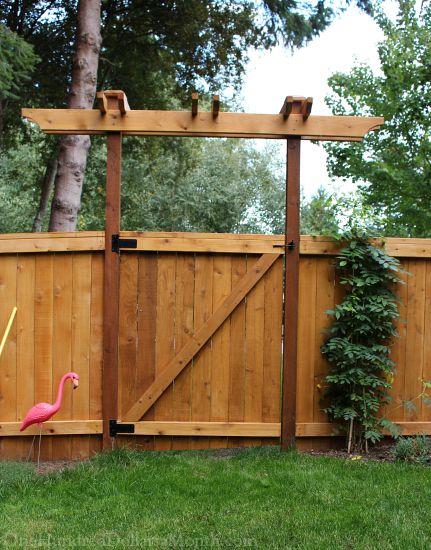 garden gate trellis arbor