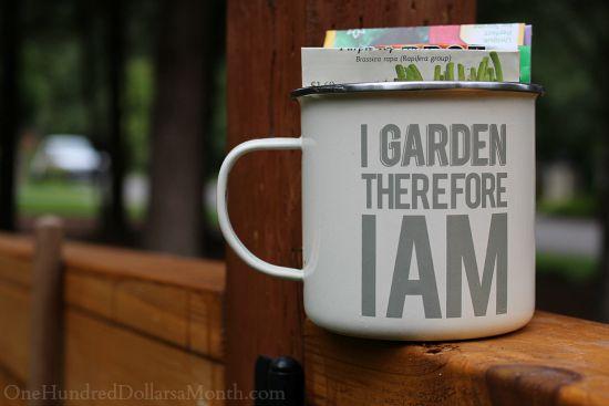 tin garden mug