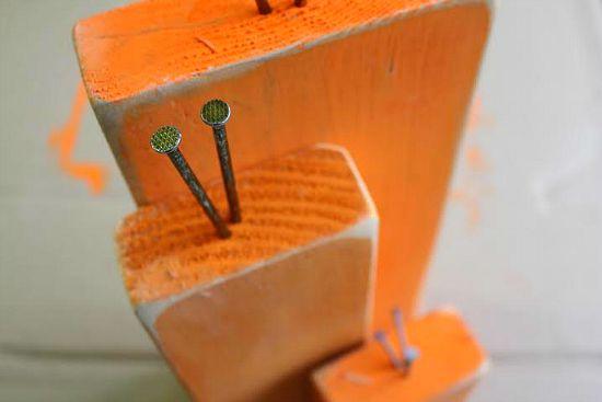 wooden pumpkin craft