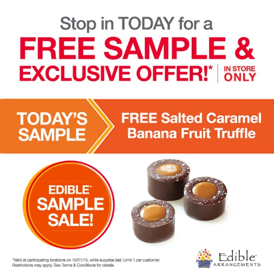 edible arrangements freebie
