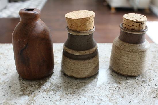pottery spice jars
