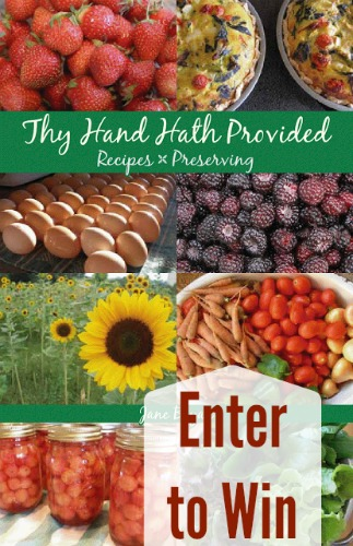 thy hand hath provided cookbook
