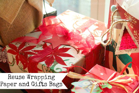Penny Pinching Tip - Reuse Wrapping Paper and Gifts Bags