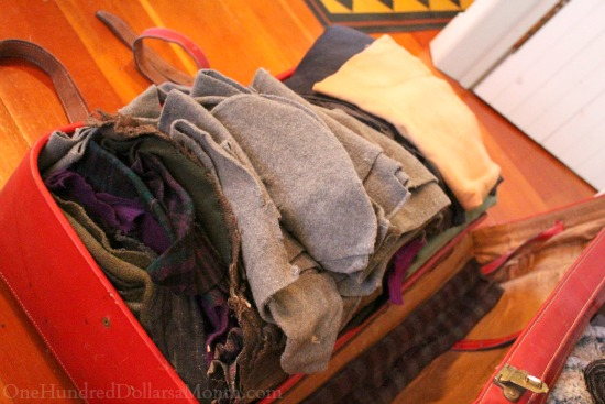 wool stash suitcase