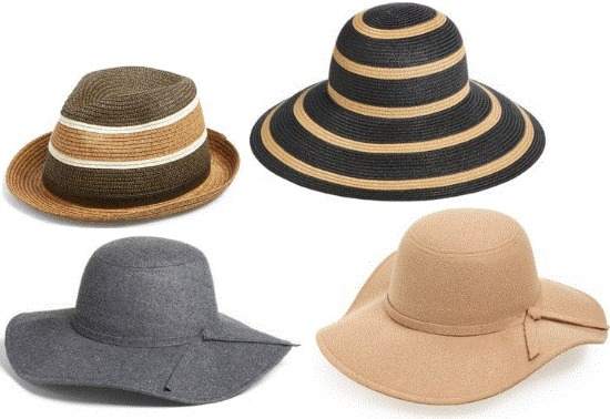 classy striped sun hat