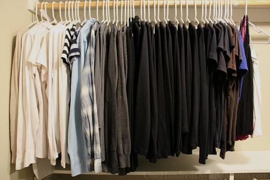 clothing closet minimalist wardrobe