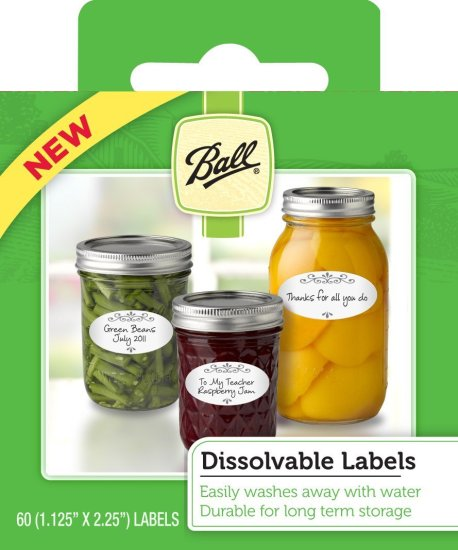 disolvable canning labels