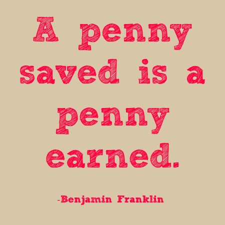 quotes - a penny saved