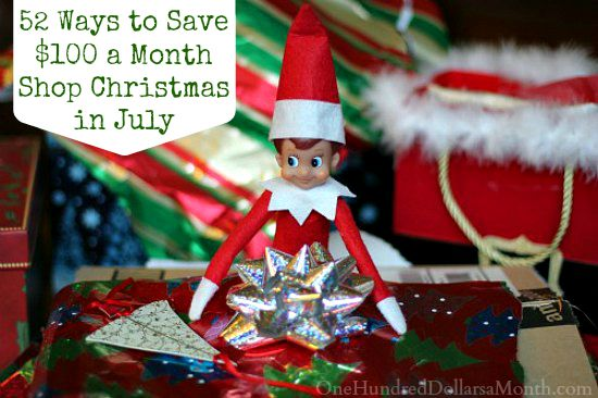 52 Ways to Save $100 a Month  Shop Christmas in July