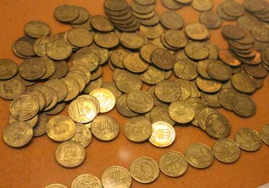 old vintage cable car tokens