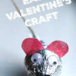 Easy Valentine's Craft — Hershey's Kiss Mice