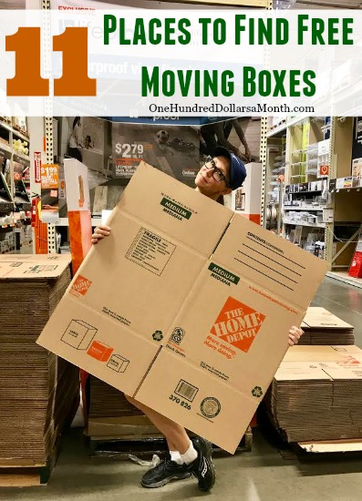 11 Places To Find Free Moving Boxes One Hundred Dollars
