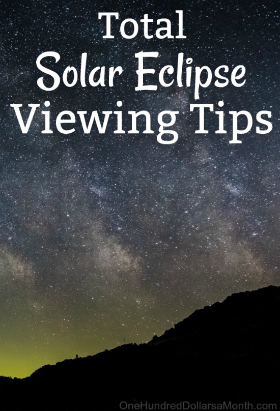 Every time I hear someone talk about the total eclipse coming up on August  21st  I immediately start humming Total Eclipse of the Heart  I can t help  it. Total Solar Eclipse Viewing Tips   One Hundred Dollars a Month