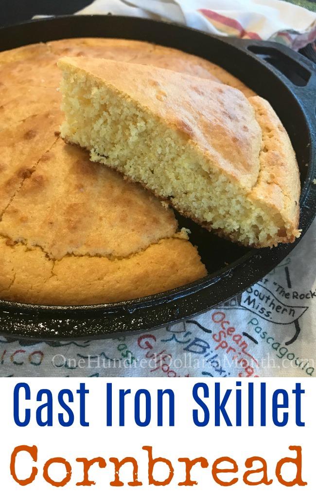 Mrs Hillbilly S Favorite Southern Skillet Cornbread Recipe One