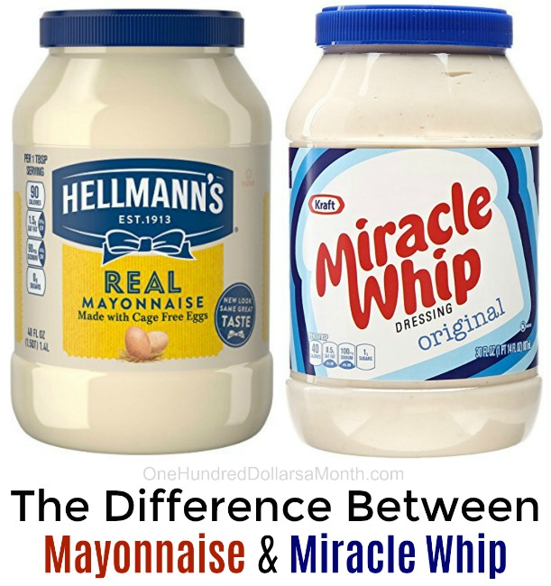 what is the difference between mayonnaise and miracle whip one