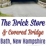 The Brick Store and a Covered Bridge in Bath, New Hampshire