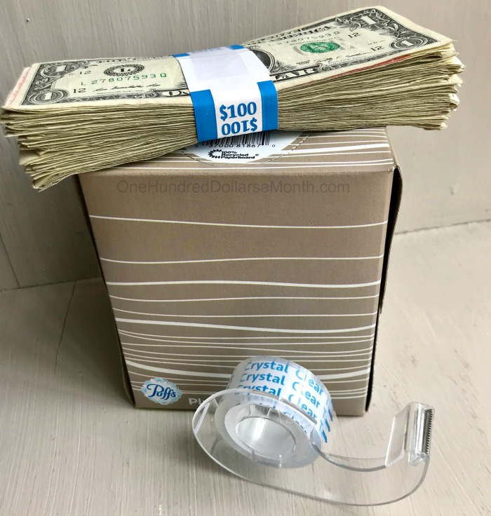 Graduation Gift Idea Money In A Tissue Box One Hundred Dollars A Month