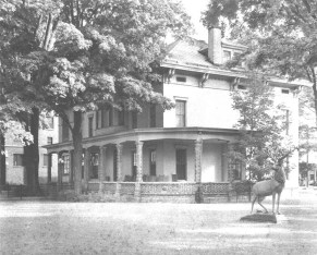 Elks Lodge (c. 1920s) Lodge 767 of the Benevolent and Protective Order of Elks, founded in 1902, bought their current home at 191 Main Street from the Mott family. (Courtesy Madison County Historical Society)