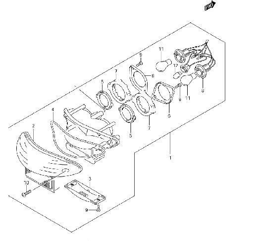 TAIL LAMP GSX1300 1999-06...