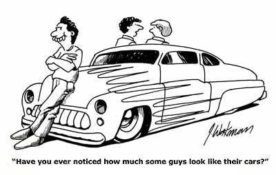 Hot rod cartoon showcase from O'Neill vintage Ford UK