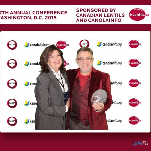 PJ with Joan Nielson at the IACP Awards 2015