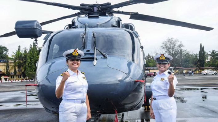 in a historic first, two woman officers to be posted on indian navy warship - oneindia news