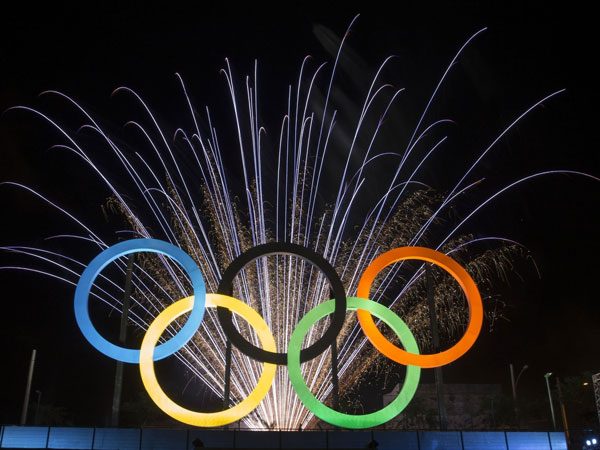 Image result for olympic rings 2016