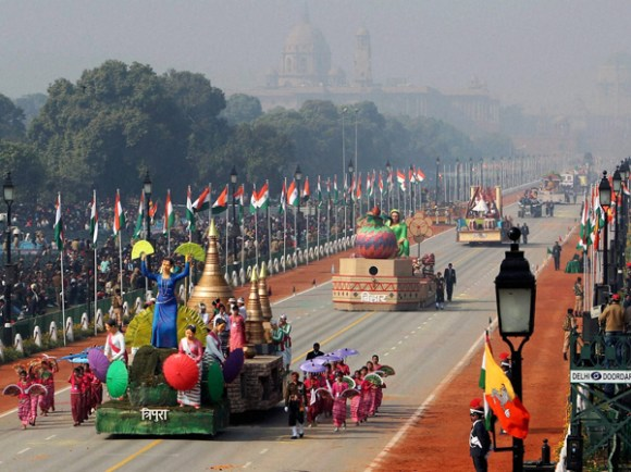 Delhi tableau in R-Day after 3 years