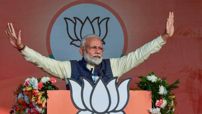 delhi needs govt that will give direction, not play blame game: pm modi - oneindia news