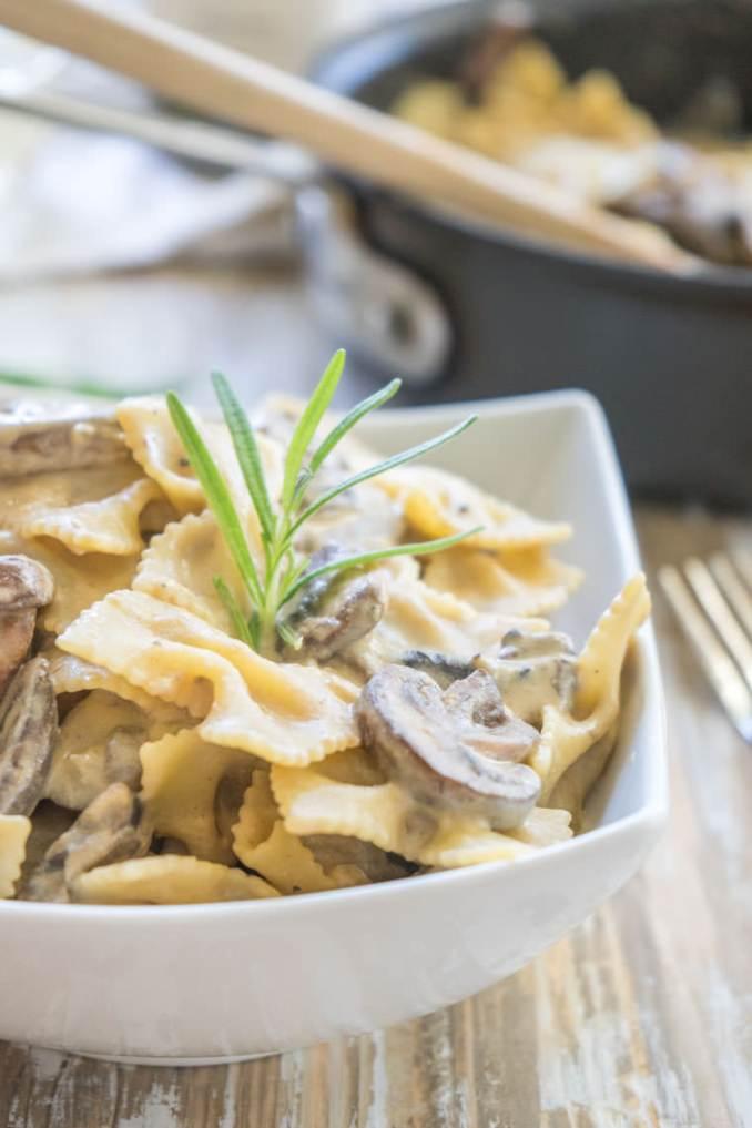 Vegan Mushroom Stroganoff Recipe | One Ingredient Chef