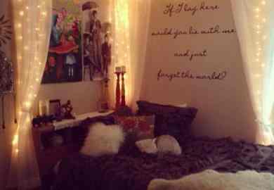 Christmas Lights In Bedroom Pinterest