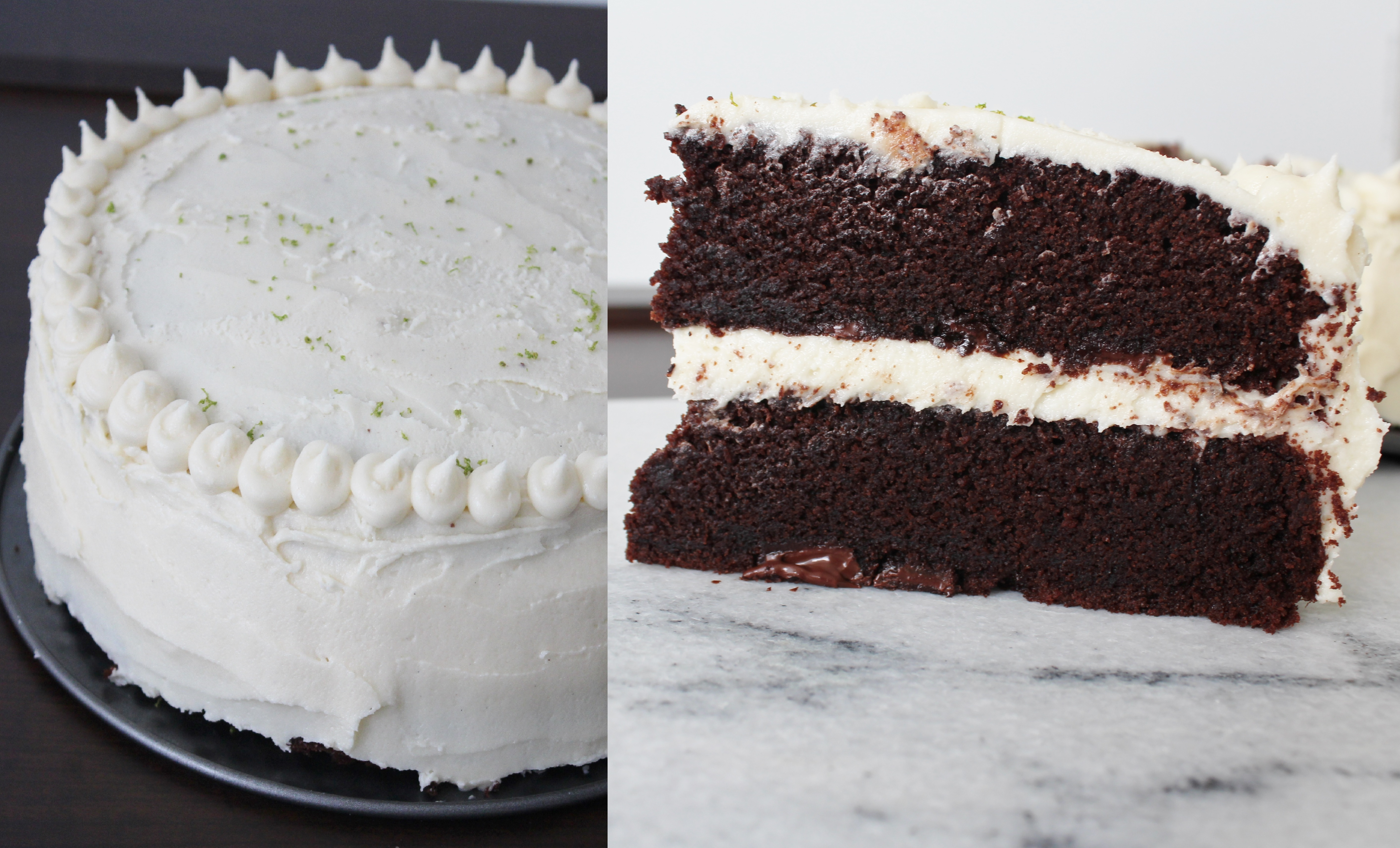 Chocolate Cake With A Twist Of Lime And Vanilla Buttercream