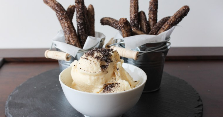 Oreo Churros And Cookie Cream Gelato