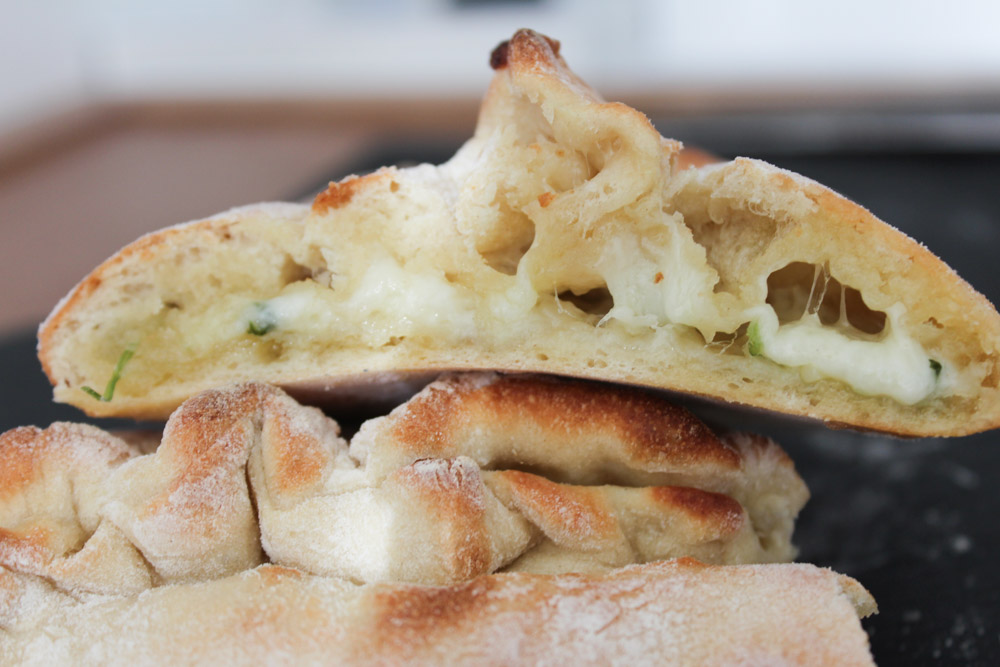 Calzone Garlic Bread With Cheese