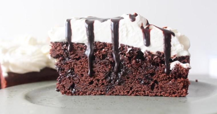 Kage Med Hjemmelavet Chokolade Sirup