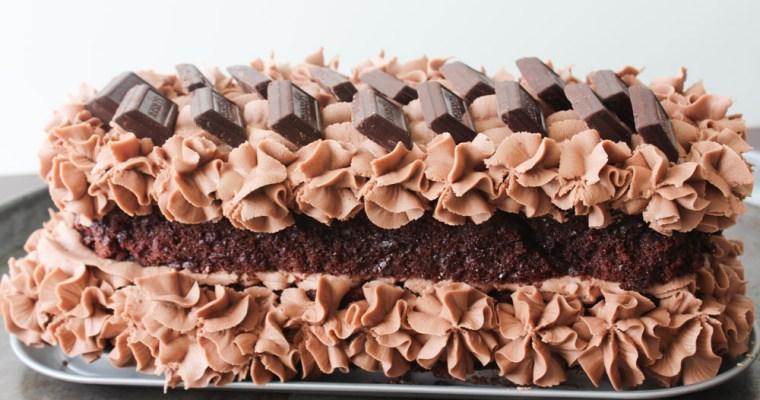 Svampet Chokoladekage Med Baileys Smørcreme
