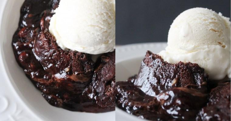 Hot Fudge Chokoladebudding Kage Med Nutella Swirls