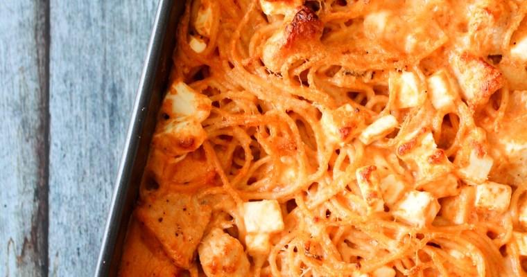 Cremet Spaghetti Bake Med Feta
