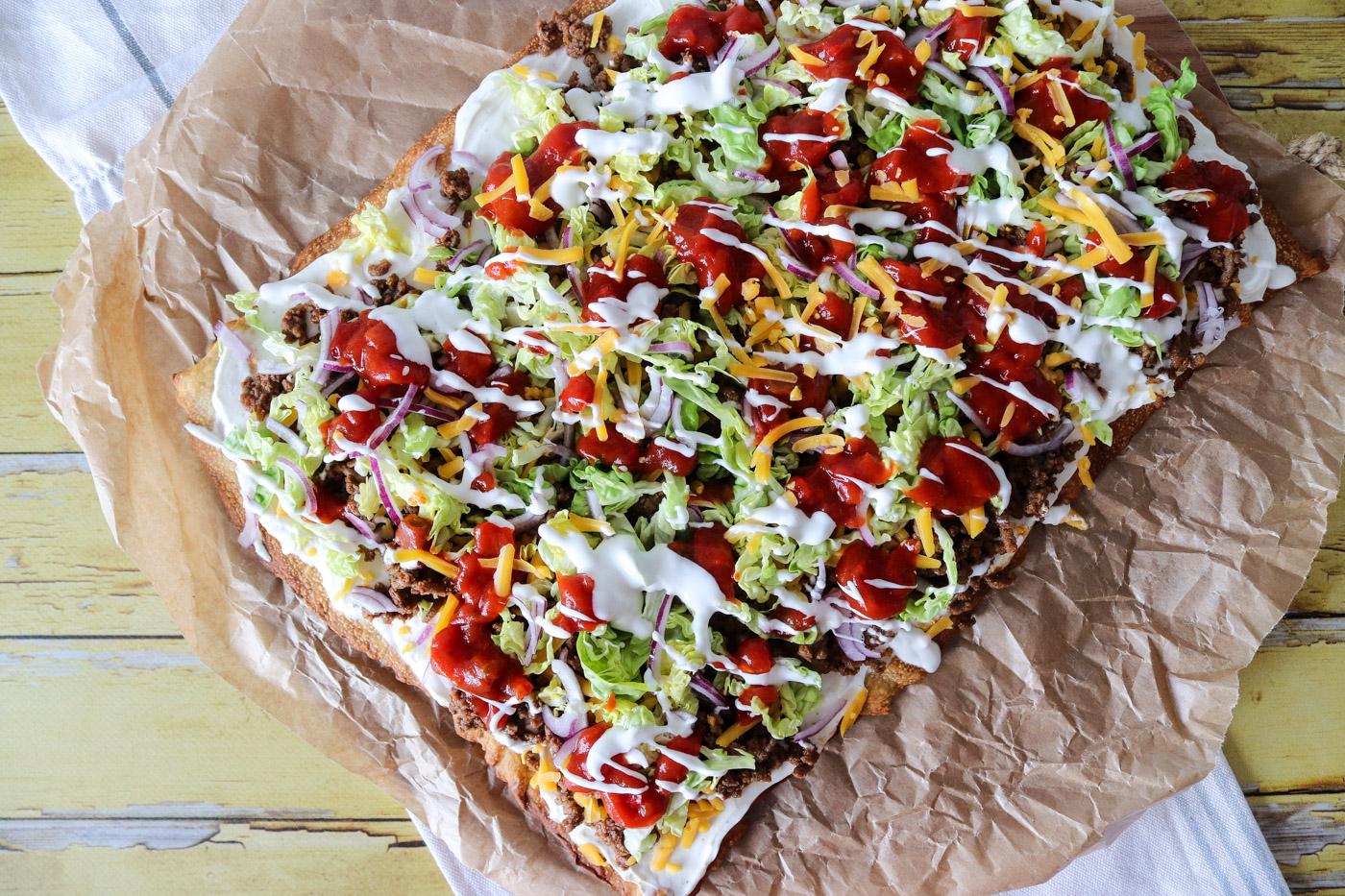 Lækker Sprød Tacopizza