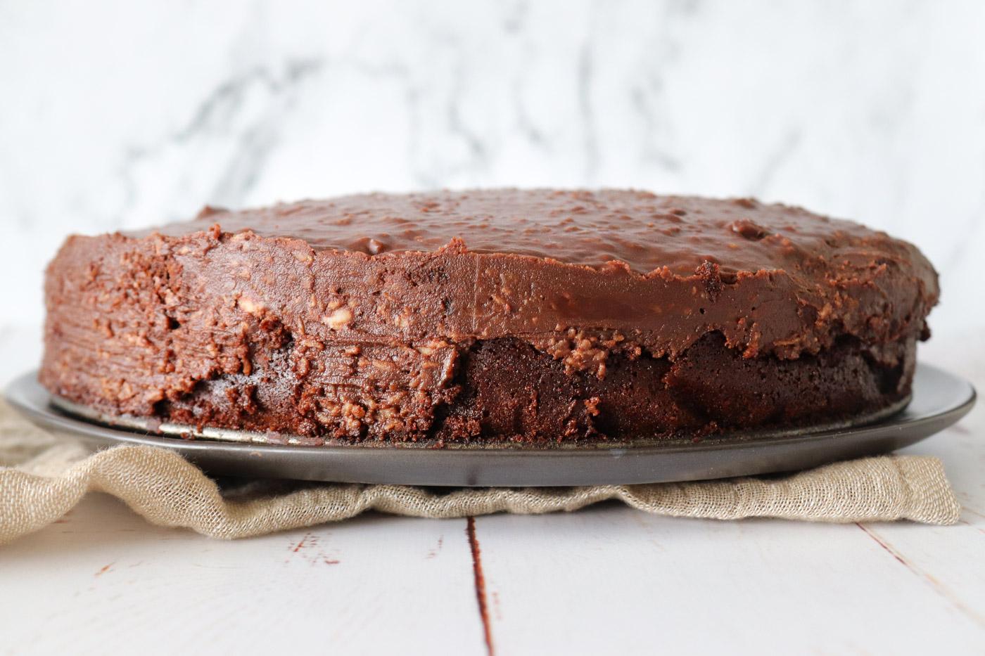 Himmelsk Chokoladekage Med Kokos/Chokoladetopping
